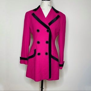 Vintage Christian Dior double breasted coat sz 8